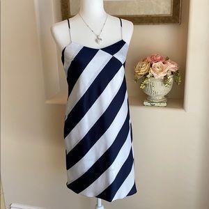 Banana Republic Navy & White Slip Dress